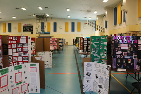 Approximately 500 projects were on display Thursday evening and then judged on  Friday. Our Thomas Jefferson students out did themselves this year in regard to  topic selection, artistic design, and research. These students will represent  Thomas Jefferson at the Kern County History Day Competition next April. 7th  grade Individual Exhibit Faith Garza for Joan of Arc Group Exhibit Cecelia  Acevedo and Brianna Moreno for Emmeline Pankhurst 8th grade Individual Exhibit  Read Gaddy for Hero with No Gun Desmond Doss Group Exhibit Emma Lowe and Irene  Vargas for Russell Means